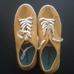 SeaVees Monterey Sneaker- Mustard Size 10